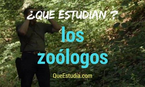 que estudia el zoologo