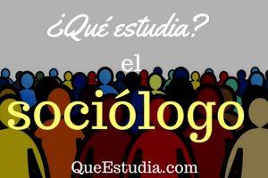 que estudia el sociologo