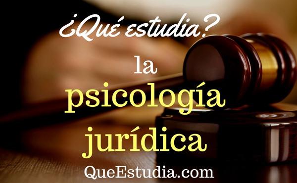 que estudia la psicologia juridica