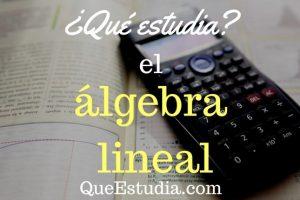 que estudia el algebra lineal
