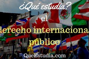que estudia el derecho internacional publico