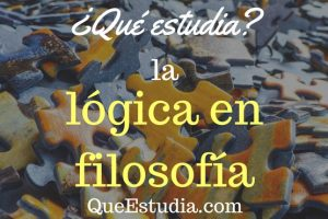 que estudia la logica en filosofia