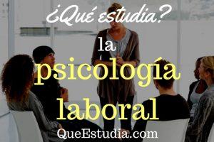 que estudia la psicologia laboral