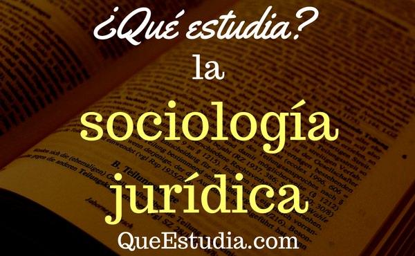 que estudia la sociologia juridica