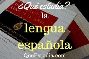 que estudia la lengua española