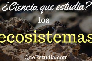 ciencia que estudia los ecosistemas