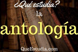 que estudia la antologia