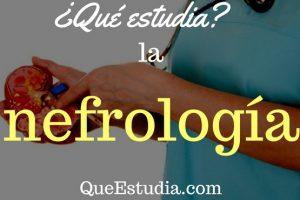 que estudia la nefrologia