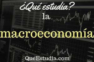 que estudia la macroeconomia